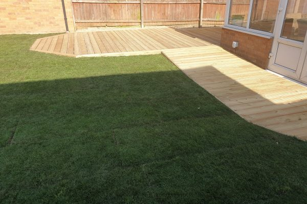 Garden Decking and Turf