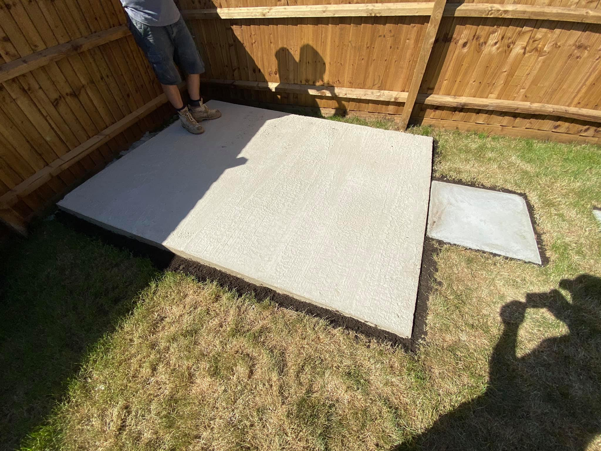 Concrete Shed Base & Patio