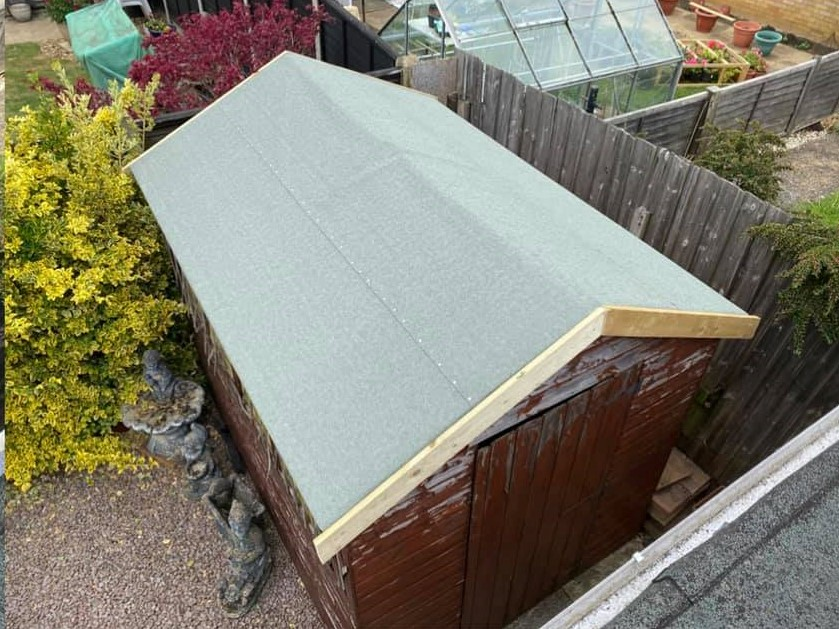 Shed roof re-felt