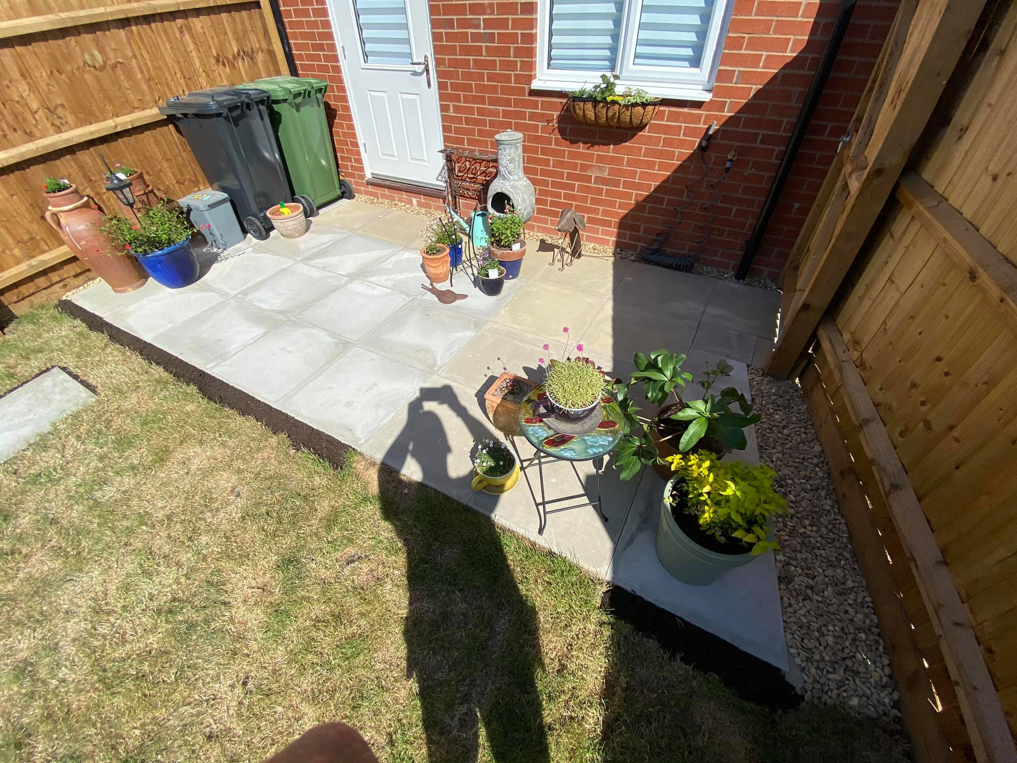 Patio Extension and Pathways