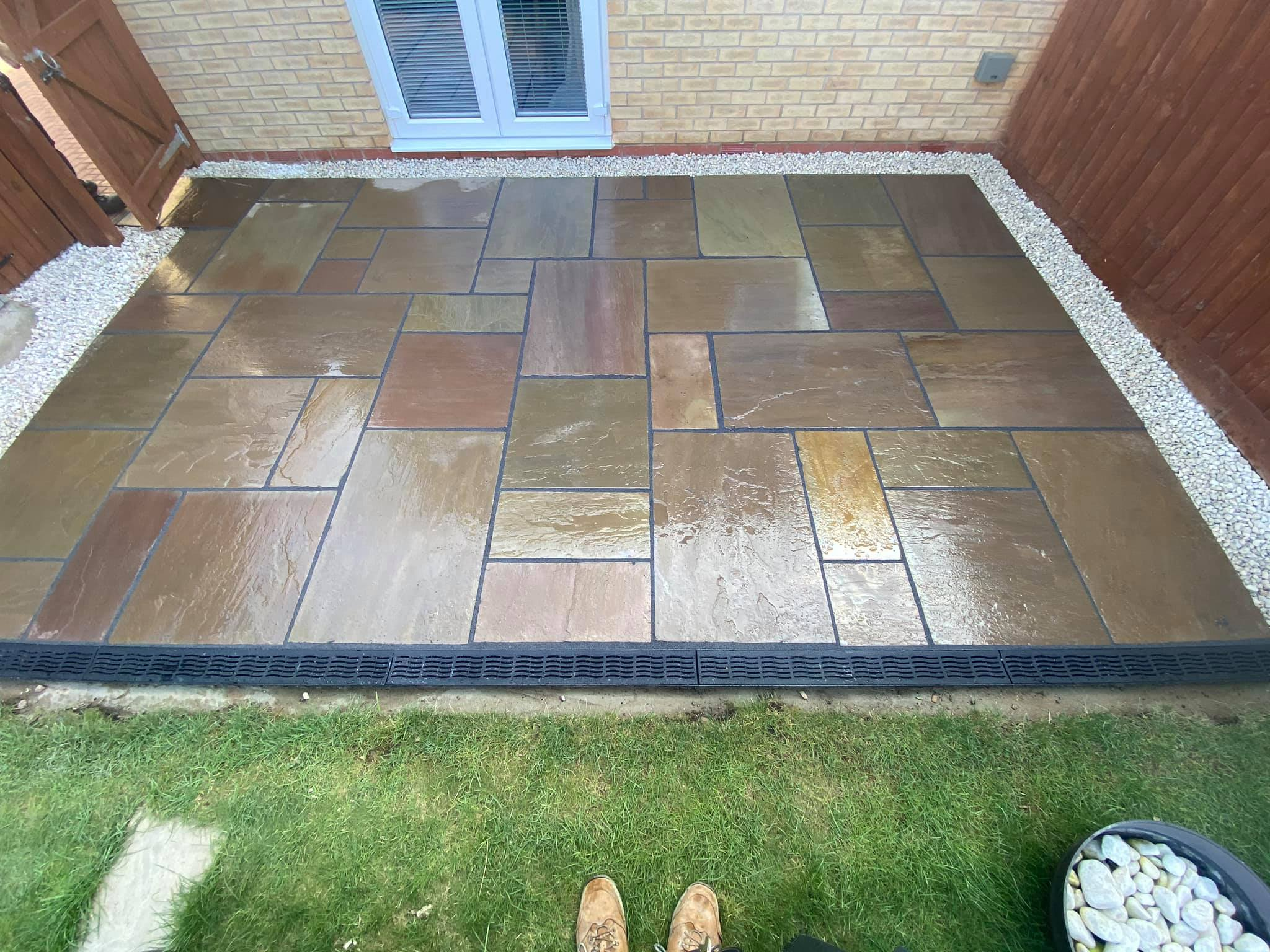 New Patio – Fixed drainage issues